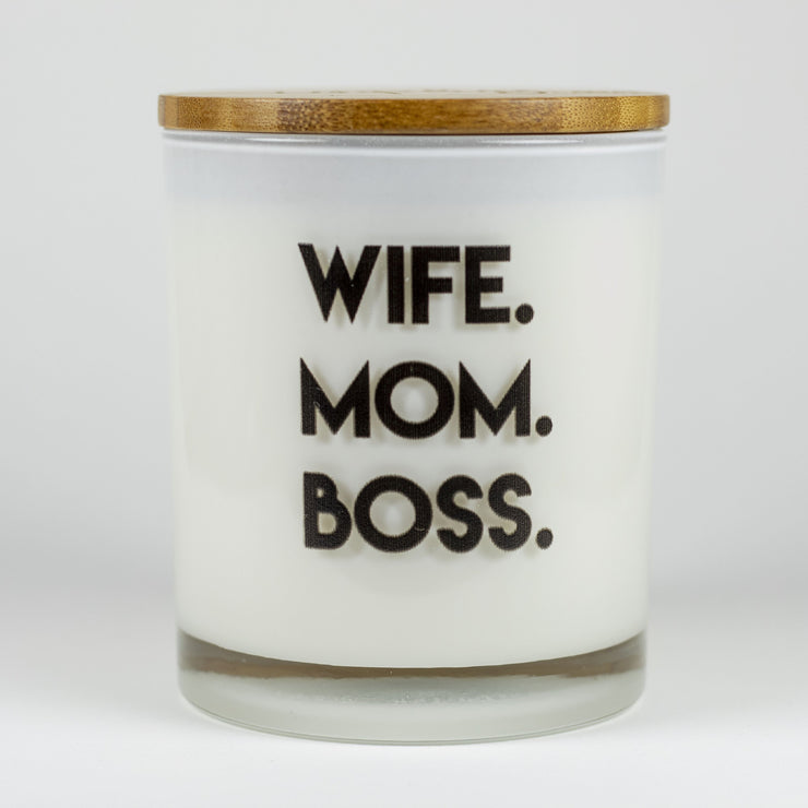 Wife Mom Boss Candle