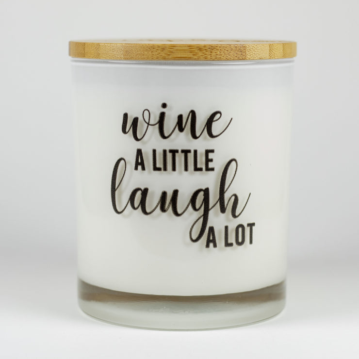 Wine A Little Laugh A Lot Candle