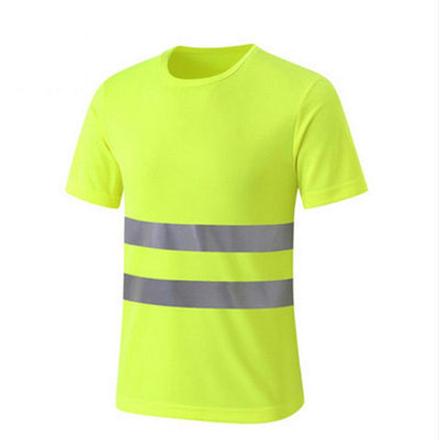 Reflective Crew Hi Vis Safety Short Sleeve Viz Visibility Shirt Neck T-Shirt