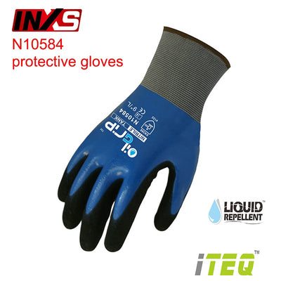 SAFETY-INXS N10584 mechanic gloves waterproof oil-proof Operating gloves Wear-resistant Non-slip EC Certification working gloves