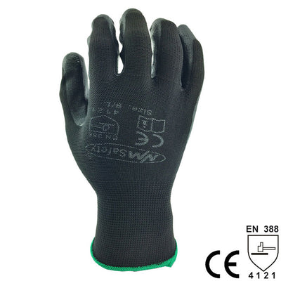 NMSafety wholesale glove of black coated work gloves nitrile glove for work assembly use 24pcs=12pairs overalls gloves