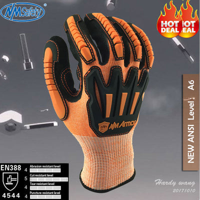 NMSafety Anti Vibration Safety Glove and Shock Resistant Glove with Anti Impact Mechanics Work Gloves