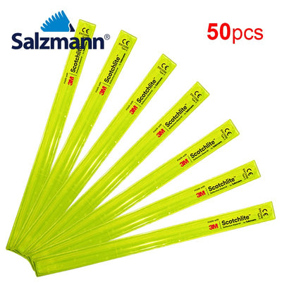 Salzmann 3x38 High Visibility 3M Scotchlite Reflective Slap Wrap 50pcs Yellow