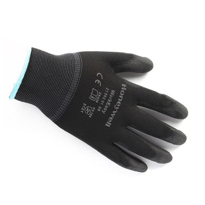 Polyester PU Coating Comfortable Non-Slip Wear-Resistant Labor Protection Work Gloves Practical Security Labor-only