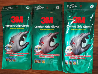 3M Work Gloves Comfort Grip wear-resistant Slip-resistant Gloves Anti-labor Safety Gloves Nitrile Rubber Gloves