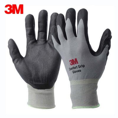 3M Work Gloves Comfort Grip Nitrile Foam Coated Anti-slip Wear-resistant Safety Gloves General Use Working Protective Glove