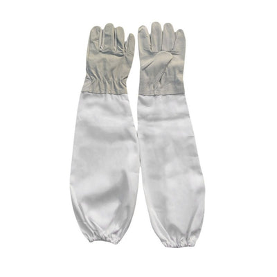 Multi-purpose Elastic Cuffs Leather Extra Long Sleeve Gloves For Garden Farm Forest Bee anti Stingproof Beekeeping working glove