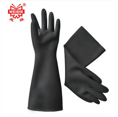 31CM white/Black gloves latex working Midoni waterproof non-slip arbeitshandschuhe upset longer latex work gloves Free Shipping