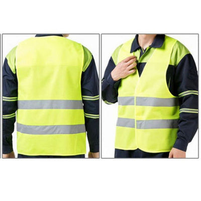 New hot Unisex  XL XXL XXXL Reflective Vest Workwear Provides High Visibility Day Night Running Cycle Warning Child Safety Vest