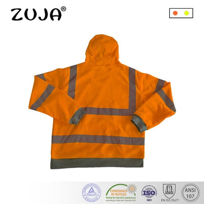 High Vis Fleece Visibility Safety Jumper Hi Viz Work Coat Yellow