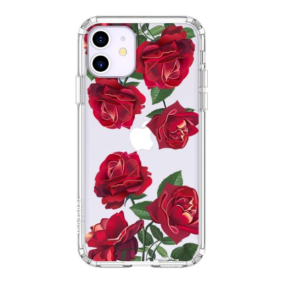 Red Rose Blossom Flower Floral Phone Case - iPhone 11 Case
