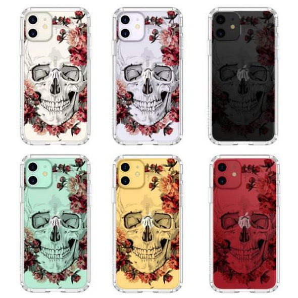 Cool Floral Skull Phone Case - iPhone 11 Case