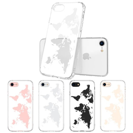 White Map Phone Case - iPhone 7 Case