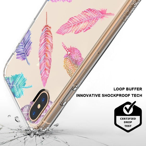 Tribal Feathers Phone Case - iPhone X Case