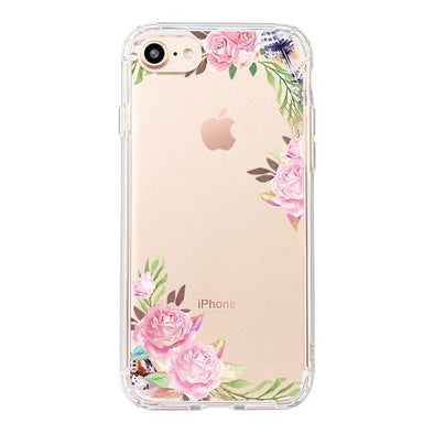 Feathers and Roses Phone Case - iPhone 8 Case
