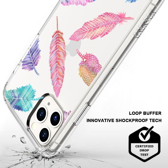Tribal Feathers Phone Case - iPhone 11 Pro Max Case