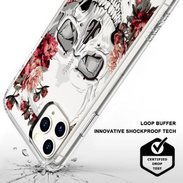 Cool Floral Skull Phone Case - iPhone 11 Pro Max Case