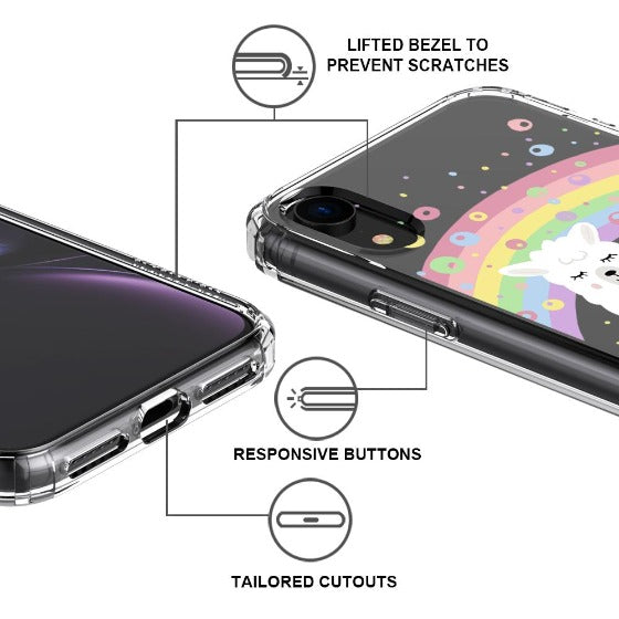 Rainbow Alpaca Phone Case - iPhone XR Case