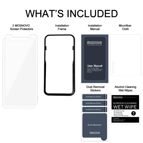 Premium Glass Screen Protector for iPhone 11 (2 Pack) - [Easy Installation Kit include]