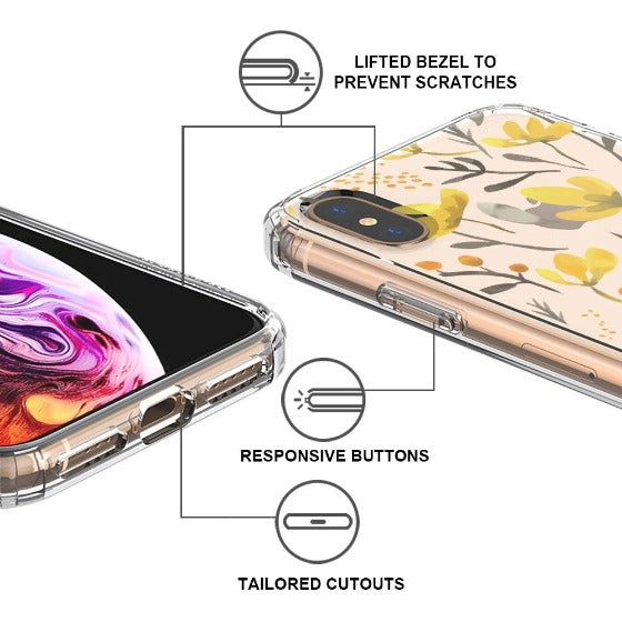 Floral Flower Phone Case - iPhone XS Case