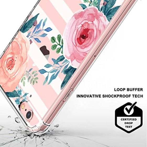 Girls Blossom Stripes Floral Flower Phone Case - iPhone 6/6S Case