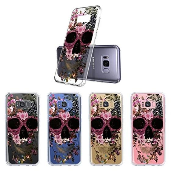 Cool Flower Skull Phone Case - Samsung Galaxy S8 Case
