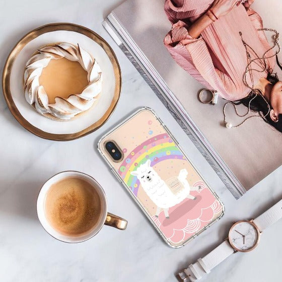 Rainbow Alpaca Phone Case - iPhone Xs Max Case