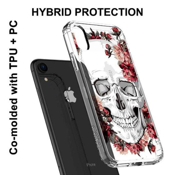 Cool Floral Skull Phone Case - iPhone XR Case