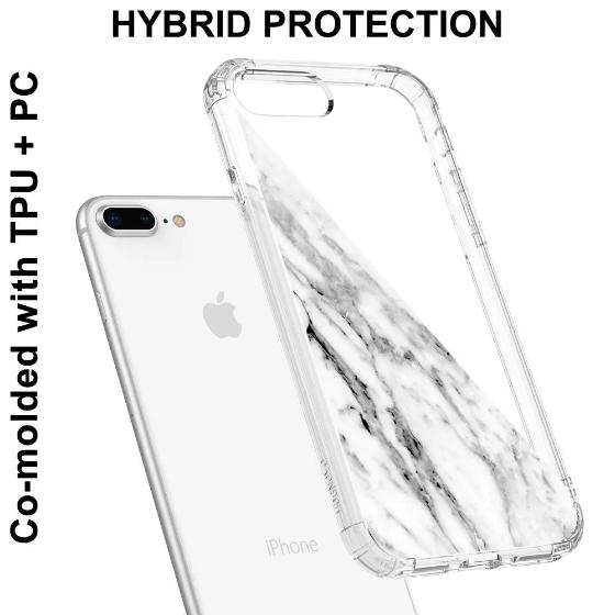 Fashion White Marble Phone Case - iPhone 8 Plus Case