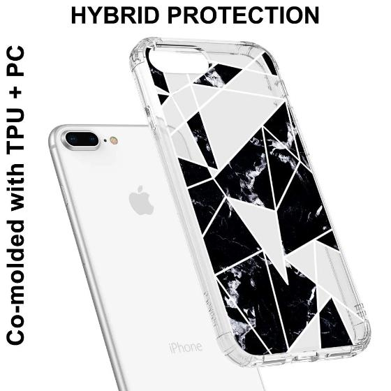 Black Marble Phone Case - iPhone 7 Plus Case