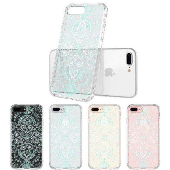 Aqua and White Mandala Phone Case - iPhone 8 Plus Case