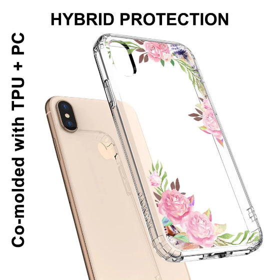 Feathers and Roses Phone Case - iPhone X Case