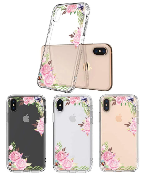 Feathers and Roses Phone Case - iPhone XS Case