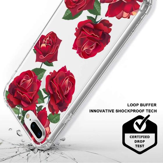 Red Rose Blossom Flower Floral Phone Case - iPhone 8 Plus Case