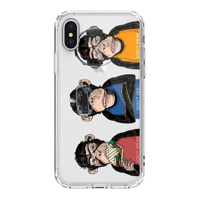Don't Speak, Don't See,Don't Hear Phone Case - iPhone XS Case