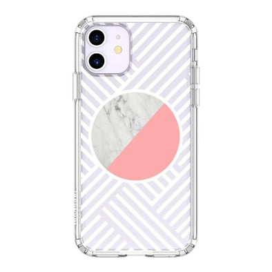 Pink White Marble Phone Case - iPhone 11 Case