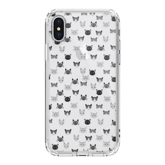 Cats Head Phone Case - iPhone XS Case