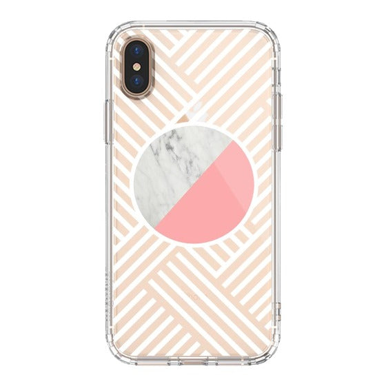 Pink White Marble Phone Case - iPhone Xs Max Case