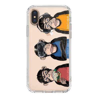 Don't Speak, Don't See,Don't Hear Phone Case - iPhone Xs Max Case