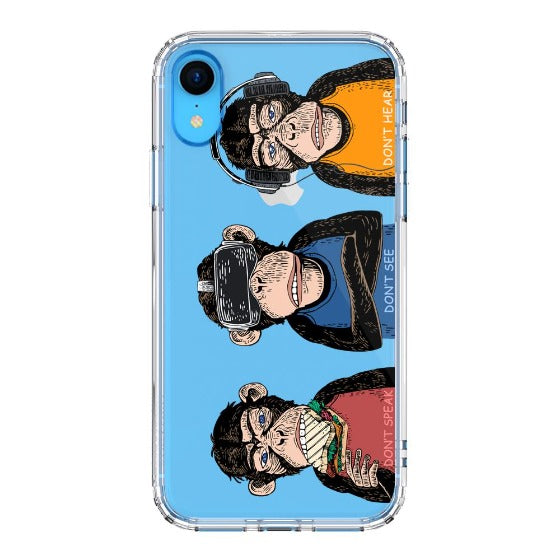 Don't Speak, Don't See,Don't Hear Phone Case - iPhone XR Case
