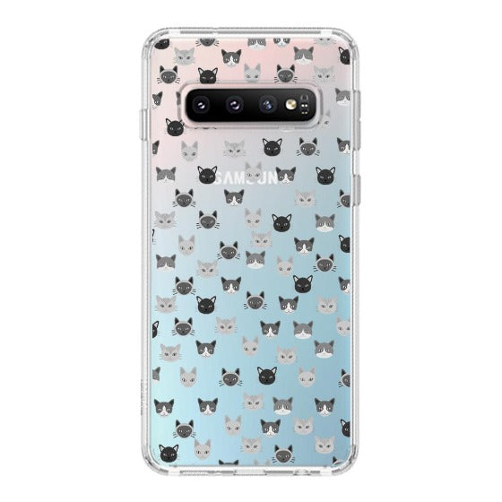 Cats Head Phone Case - Samsung Galaxy S10 Case