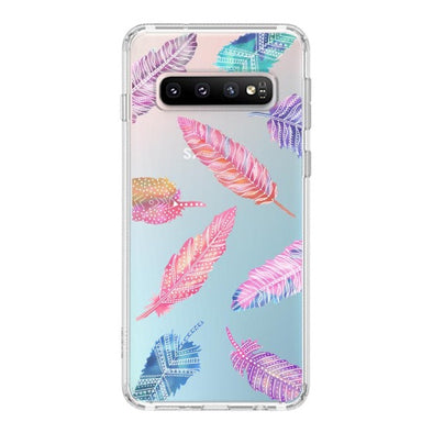 Tribal Feathers Phone Case - Samsung Galaxy S10 Case