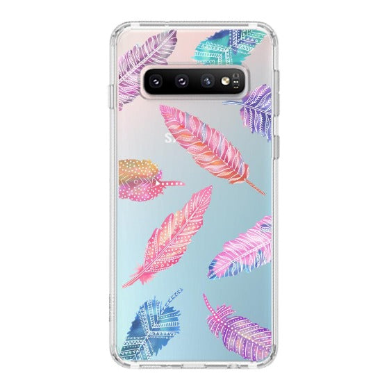 Tribal Feathers Phone Case - Samsung Galaxy S10 Plus Case