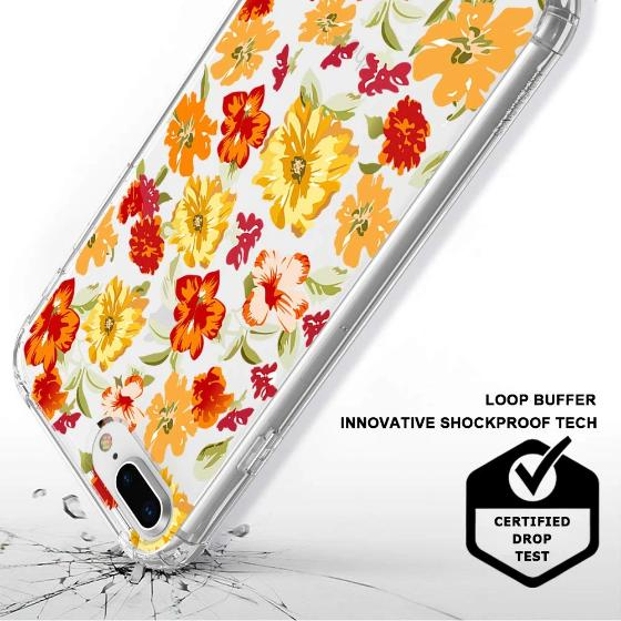 Saffron Yellow Flower Floral Phone Case - iPhone 8 Plus Case
