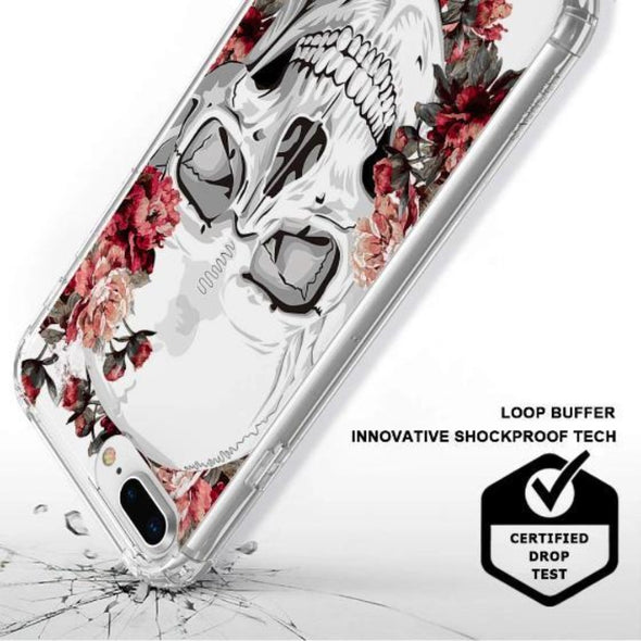 Cool Floral Skull Phone Case - iPhone 8 Plus Case