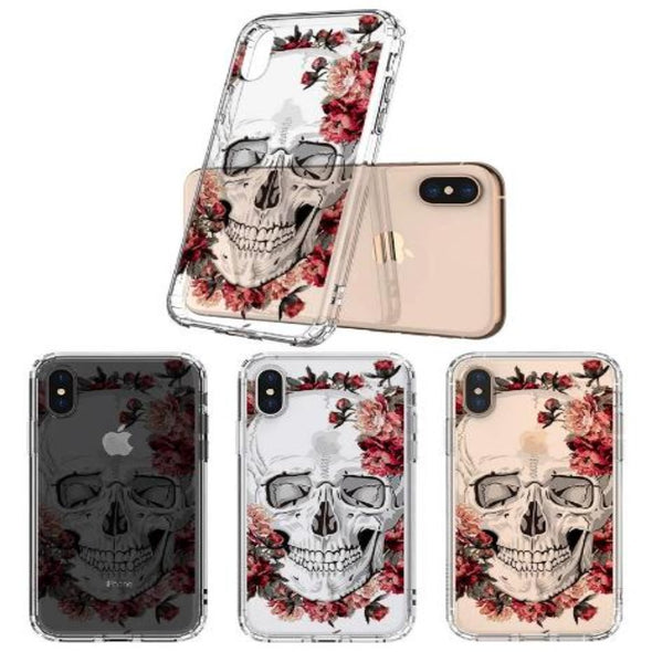 Cool Floral Skull Phone Case - iPhone X Case