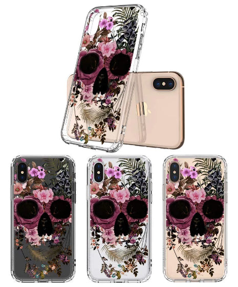 Cool Flower Skull Phone Case - iPhone Xs Max Case