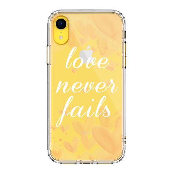 Love Never Fails Quotes Phone Case - iPhone XR Case