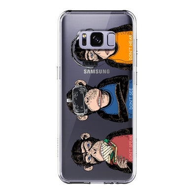 Don't Speak, Don't See,Don't Hear Phone Case - Samsung Galaxy S8 Plus Case
