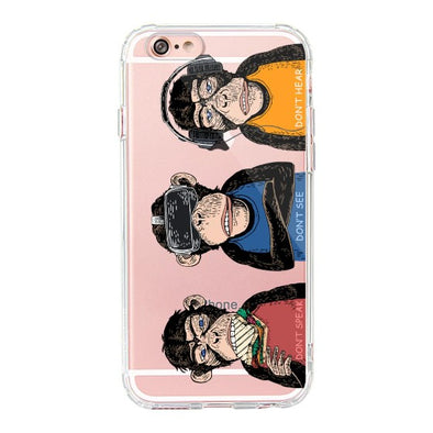 Don't Speak, Don't See,Don't Hear Phone Case - iPhone 6/6S Case